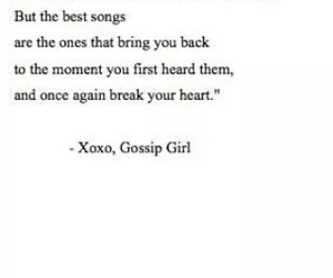 gossip girl, quote, and song image