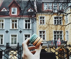 beautiful house and biscuit image