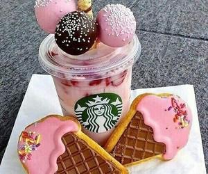 starbucks, food, and pink image