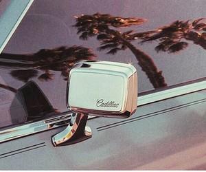 car, cadillac, and palms image