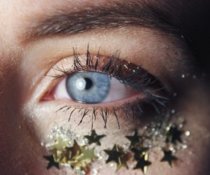 blue, stars, and eye image