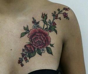 roses, shoulder, and shoulder tattoo image