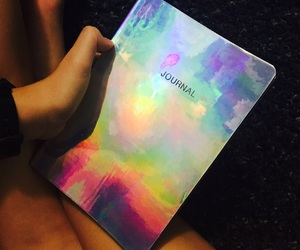 colour, diary, and holographic image