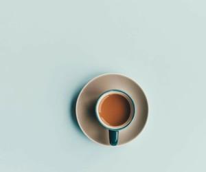 coffee, minimalism, and blue image