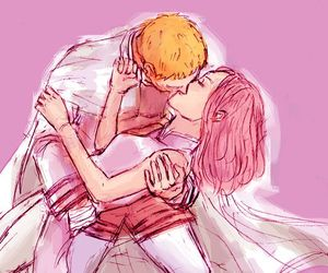 anime, couple, and forever image