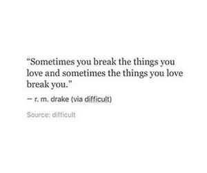 breakup, heartbreak, and quotes image