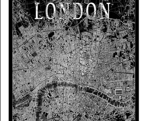 black and white, vintage, and london image