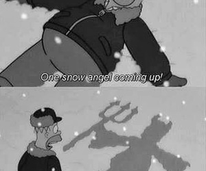 funny, homer, and snow image