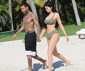 kylie jenner, tyga, and couple image