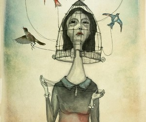 open mind, art, and fly away image