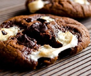 chocolate, cookie, and marsmallow image