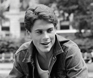 black and white, boy, and rob lowe image