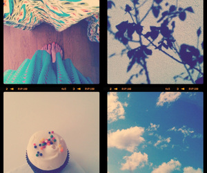 cupcakes, clouds, and sky. image