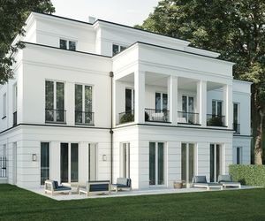architecture, white, and house image