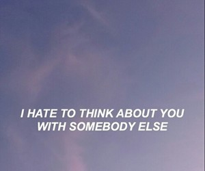 quote, somebody else, and love image
