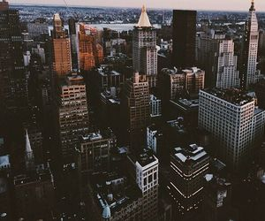 america, city, and street image