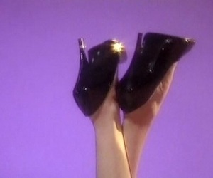 aesthetic, heels, and purple image