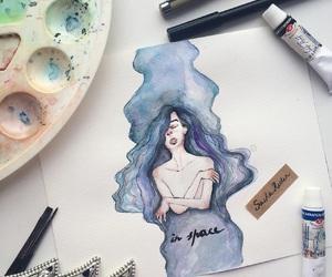 art, artist, and girl image