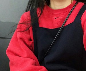 red, fashion, and nike image