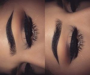 oczy, makijaż, and brwi image