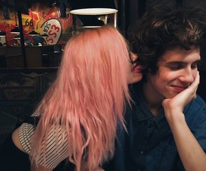 couple, love, and pink image
