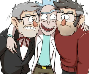 gravity falls and rick and morty image