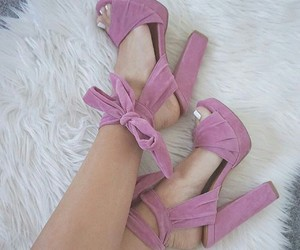 fancy, lace up heels, and love them image