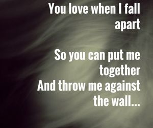 apart, fall, and Lyrics image