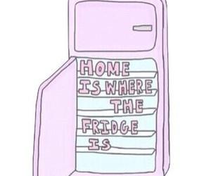 fridge, tumblr, and food image