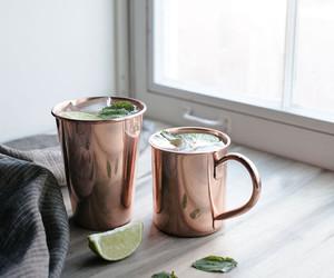 drink, tea, and lime image