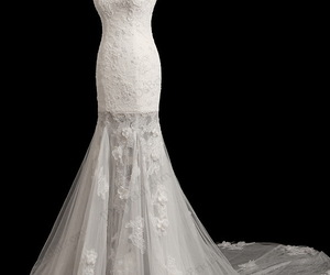 strapless, bridal wedding dress, and sexy bridal gown image