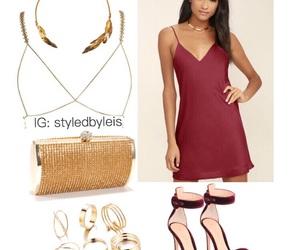 burgundy, fashion, and gold image