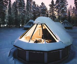 snow, winter, and finland image