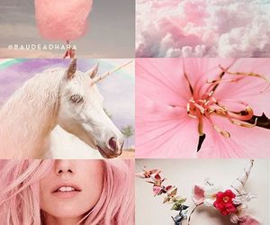 clouds, cotton candy, and flower image