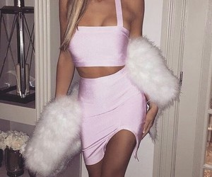 pink, fashion, and goals image