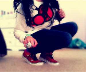 hello kitty, swag, and vans image