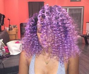 purple, curls, and curly image