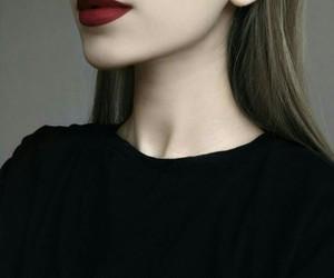 lips, black, and girl image