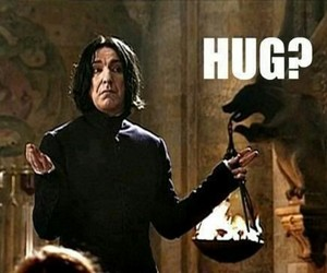 harry potter, hug, and snape image