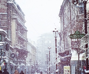 bucharest, snow, and winter image