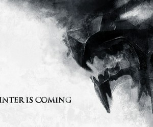 game of thrones, winter is coming, and stark image