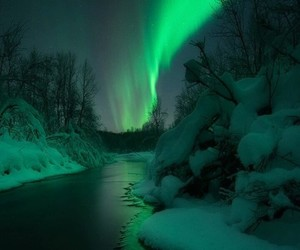 nature, aurora, and landscape image