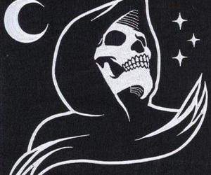 death, dark, and skeleton image