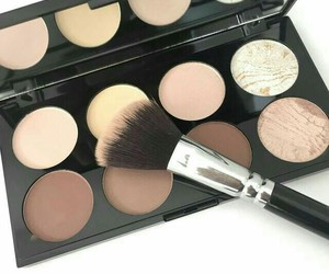 makeup, beauty, and brush image