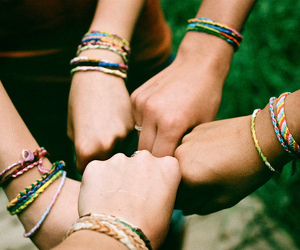 friends, friendship, and bracelet image