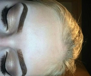 blond, eyebrows, and girl image