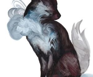 fox, art, and wolf image