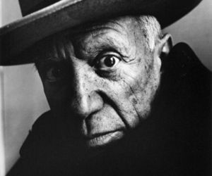 Pablo Picasso and irving penn image