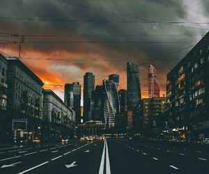 moscow, city, and sunset image