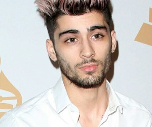 hair, pink, and zayn image